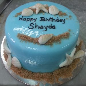Beautiful birthday light blue cake - SKUCAK043 - Flowers, Cakes and Gifts delivery in Dubai UAE