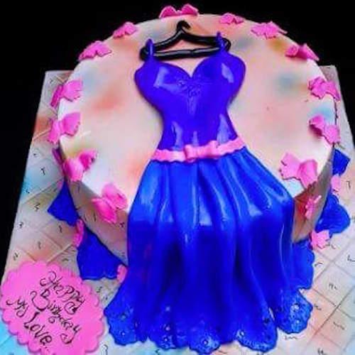 Birthday Cake For Girls.Min 3kg Birthday Dress Birthday Cake For Girls Skucak046