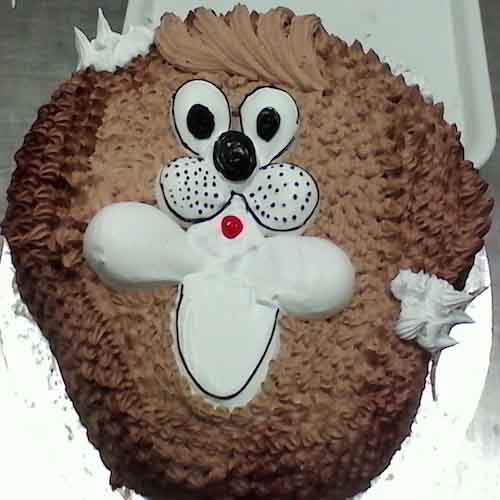 Bunny face cake 2 - SKUCAK068 - Flowers, Cakes and Gifts delivery in Dubai UAE