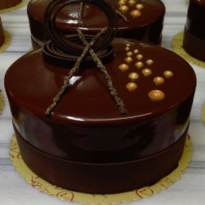 Chocolate cake with rings - SKUCAK041 - Flowers, Cakes and Gifts delivery in Dubai UAE