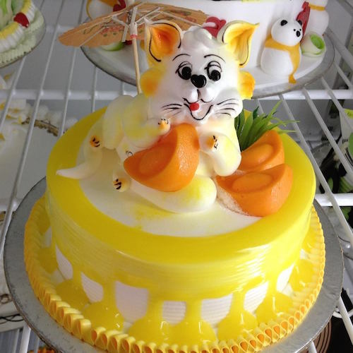 Cute yellow rabit cake - SKUCAK058 - Flowers, Cakes and Gifts delivery in Dubai UAE