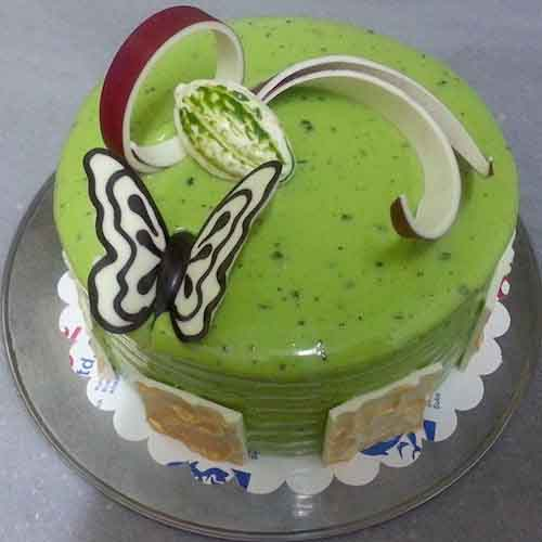 Green Butterfly Cake for Baby Shower - Flowers, Cakes and Gifts delivery in Dubai UAE