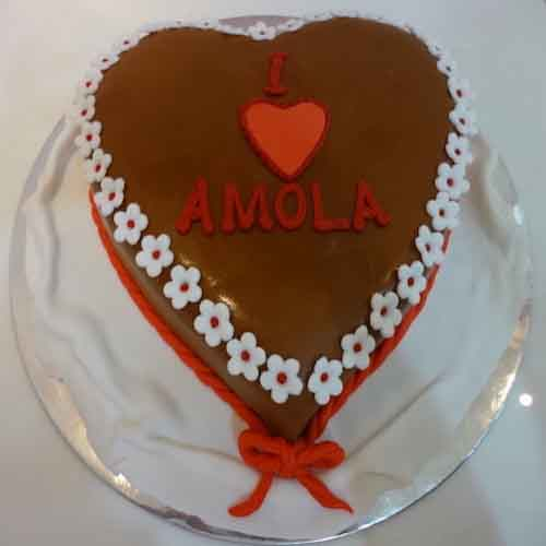 Heart Shape Chocolate Cake - Flowers, Cakes and Gifts delivery in Dubai UAE