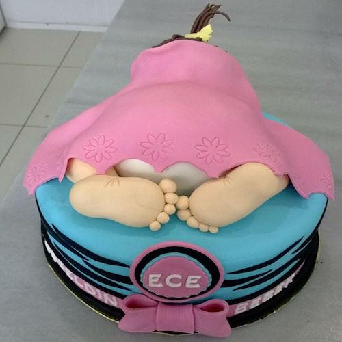 Sleeping Baby Cake - Flowers, Cakes and Gifts delivery in Dubai UAE