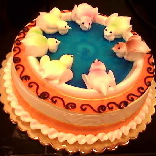 White Dove Cake with Vanilla Flavour - Flowers, Cakes and Gifts delivery in Dubai UAE
