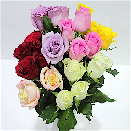 Mixed Roses Flower Bouquet - SKUFLR07 - Flowers, Cakes and Gifts delivery in Dubai UAE