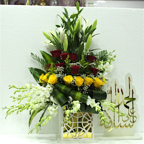 Get well soon written in Arabic 2 - SKUFLR08 - Flowers, Cakes and Gifts delivery in Dubai UAE