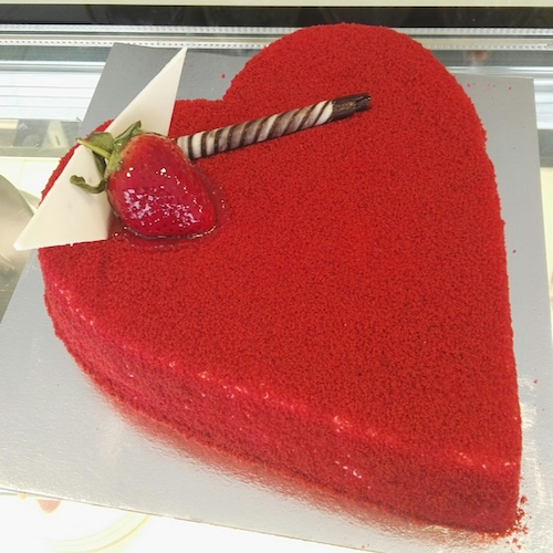 Heart shaped Red Velvet cake - SKUCAK101 - Flowers, Cakes and Gifts delivery in Dubai UAE