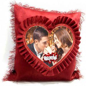 Printed Heart Shape Pillow - SKUMUHBATIE7