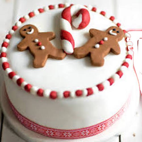 Min 1kg - Christmas Cake 1 - Online Gifts Delivery UAE