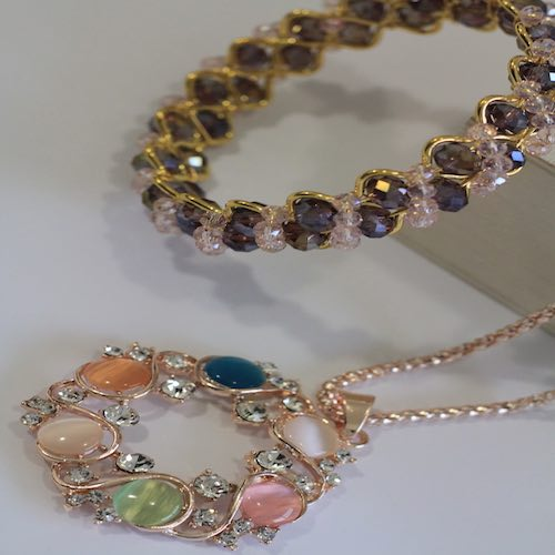 Rosegold color necklace and bangle set 1 - Gifts for Women - Online Gifts Delivery in Dubai UAE