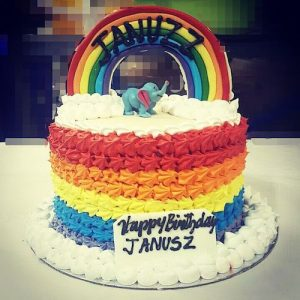 Min 1.5 Kg - Rainbow cake - Online Gifts Delivery UAE
