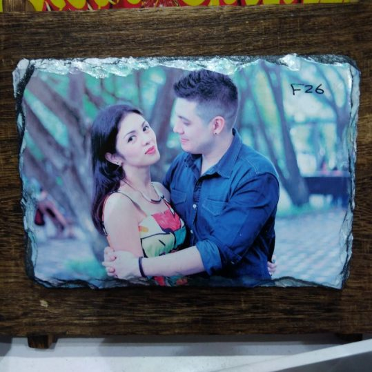 Wooden Photo Frame in Rock Glass - Online Gifts Delivery in Dubai UAE