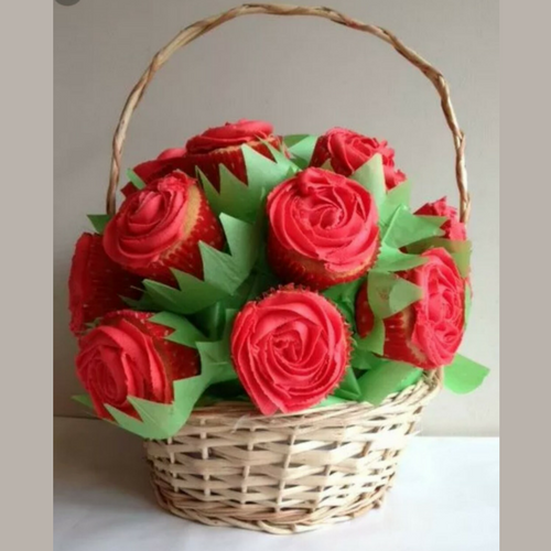 Edible Mohbat Cupcakes - Valentine's Day Special - SKUCAK160 - Online Gifts Delivery in Dubai UAE