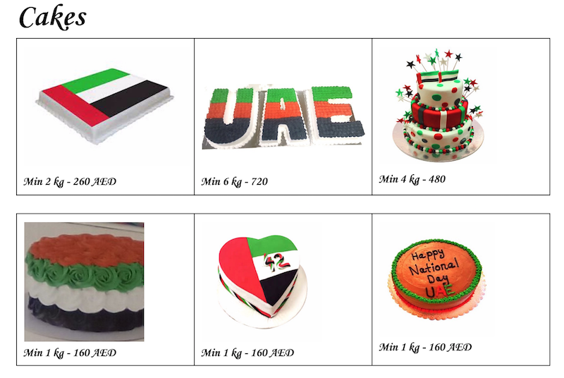 UAE National Flag Cakes