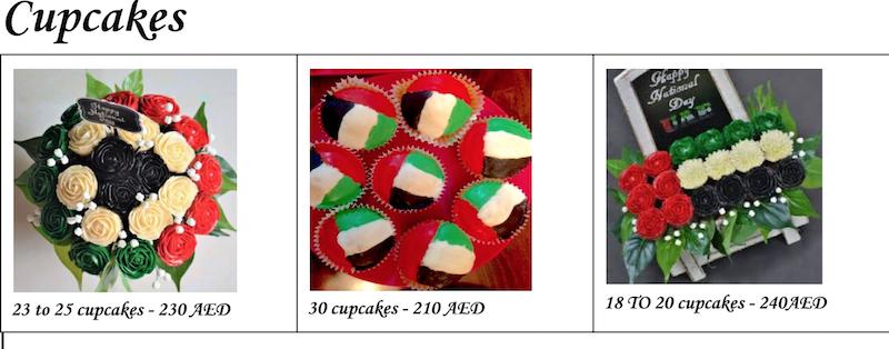 UAE National Flag Cupcakes