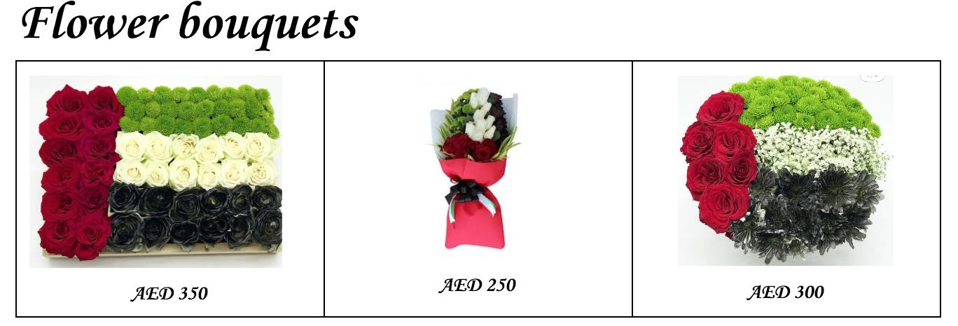 UAE National flag Flowers