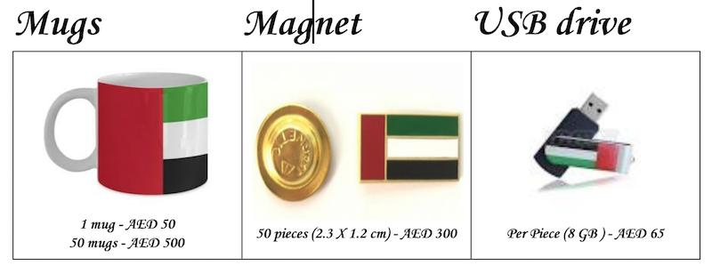 UAE flag mug usb magnet